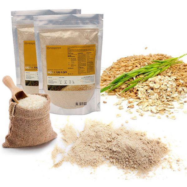 Bột Cám Gạo Nguyên Chất Milaganics (100g)